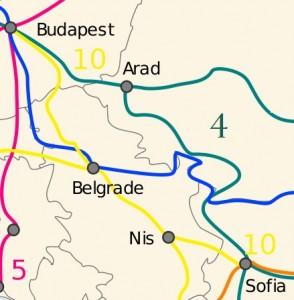 Линията през втория мост над Дунав е част от трансевропейски транспортен коридор номер 4. Илюстрация: Wikimedia.org