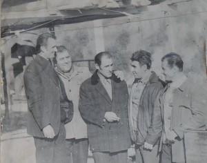 Първопроходците на рудодобива в с. Еньовче през 1959 г.. Фото: Р.Йорданов/Музей на рудодобива с. Еньовче