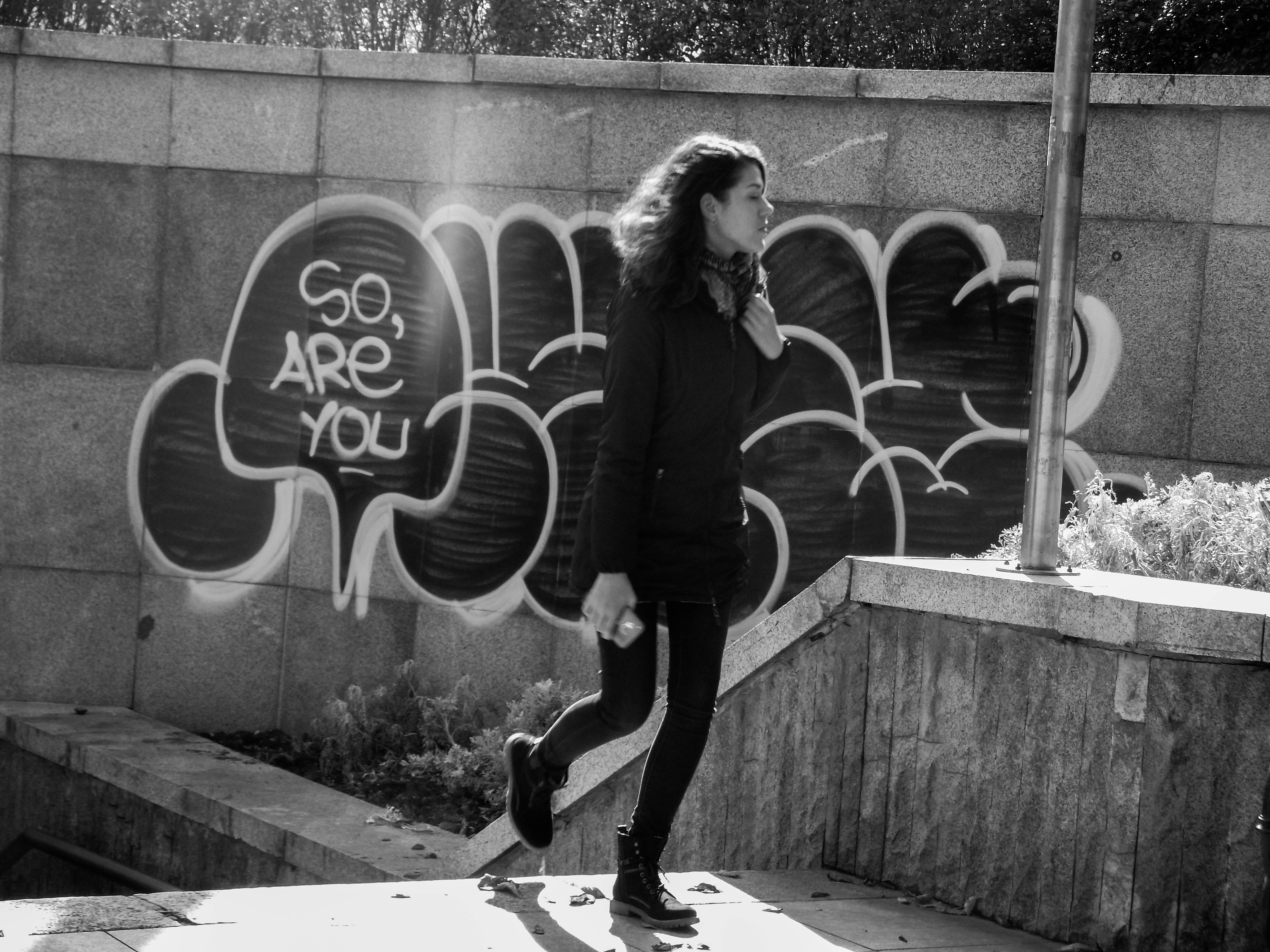 """""""Добре ли си?"""" - графити в София. Снимка: Константин Мравов"""